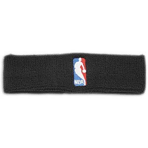 NBA Logoman Headband - Black - Black One Size