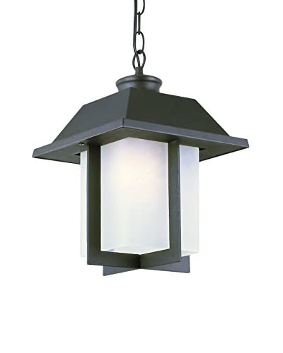Bel Air Lighting Pagoda Cap 12 Outdoor Pendant, Black