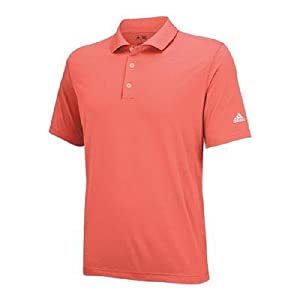 adidas Golf Men's Puremotion Solid Jersey Polo, Bahia Coral/White, XX-Large