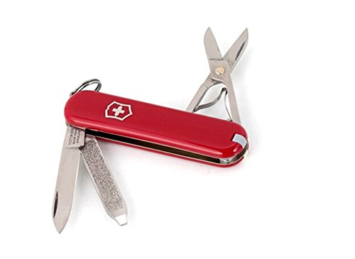 7 Functions Mini 58Mm Swiss Army Classic Pocket Knife(Red)