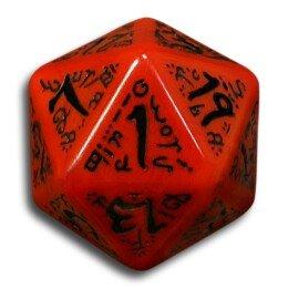 Amazon.com: 1 (One) Single d20 - Q-Workshop: Carved Elvish / Elven d20