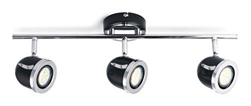 mstar spotbalken mit 3 flammige deckenspot led deckenstrahler deckenleuchte deckenlampe spots. Black Bedroom Furniture Sets. Home Design Ideas