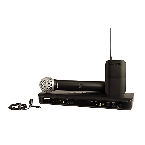 Shure Blx1288/Cvl Dual Channel Combo Wireless System With Pg58 Handheld And Cvl Lavalier Microphone, K12