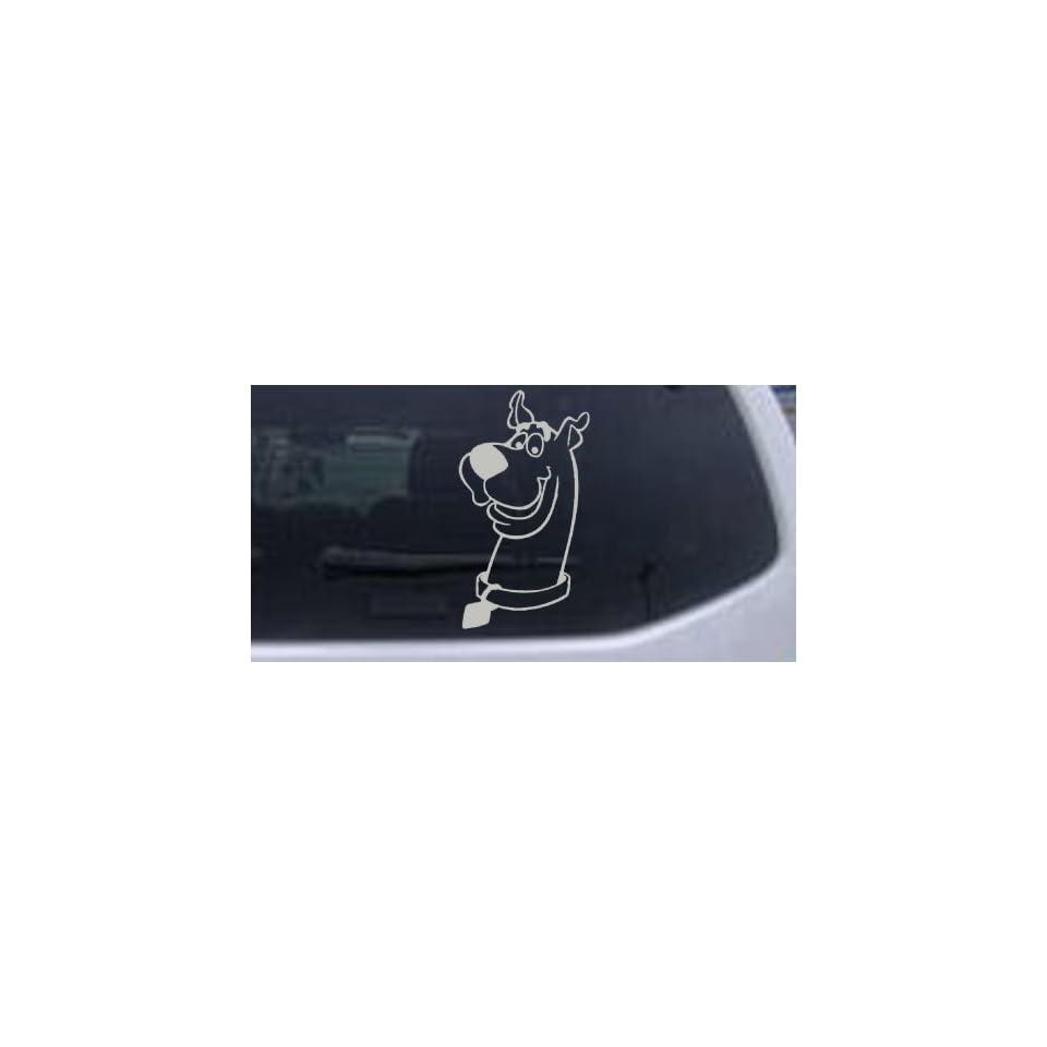 Scooby Doo Cartoons Car Window Wall Laptop Decal Sticker    Silver 12in X 6.5in