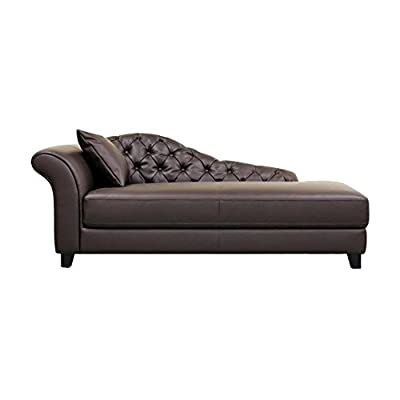 Baxton Studio Contemporary Style Chaise Lounge - Brown