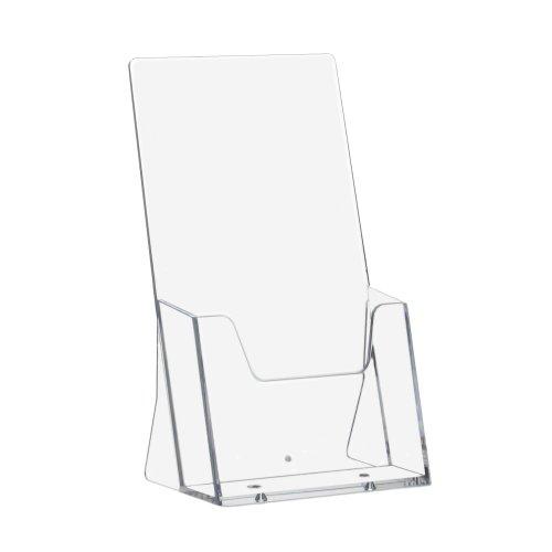 10-Stck-DIN-Lang-99x210mm-Prospekthalter-Prospektstnder-Flyerhalter-Flyerstnder-Tischaufsteller-Aufsteller-im-Hochformat-transparent