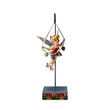 #!Cheap Disney Traditions by Jim Shore 4016568 Tinkerbell Holding String of Bells Hanging on a Stand Figurine, 10-1/4-Inch
