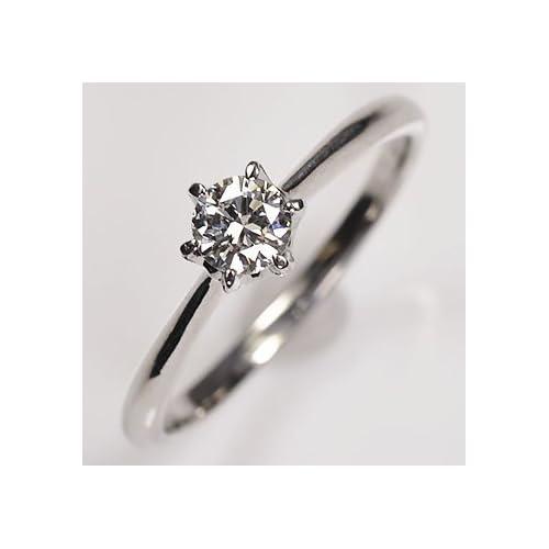 [キュートジュエリー]Cute jewerly ダイヤモンド 指輪 プラチナ・ダイヤモンド0.3ct(SIクラス・鑑別書カード付) ソリティアリング 7