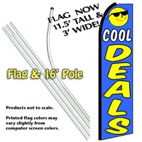 Cool Deals Feather Banner Flag Kit (Flag & Pole)