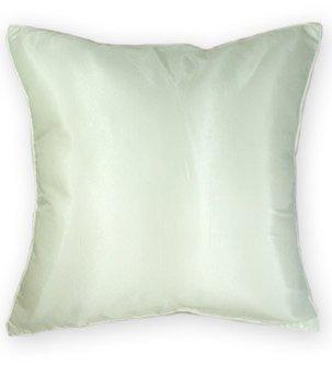 Artiwa Large Silk Decorative Throw Accent Pillow Case Cover Cream White 20X20 Inch Gift Idea front-106162