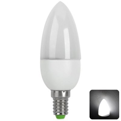 Comple 10 X 2835-Smd Leds 2W E14 Based 150Lm Ac-220V 6500-7500K Led Candle Light Lamp With Flame