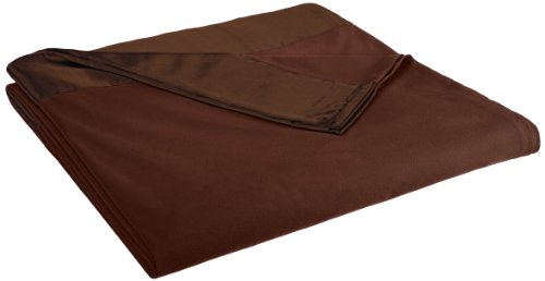 Shavel All Seasons Year Round Sheet Blanket With Satin Hem, Full/Queen, Chocolate front-643928