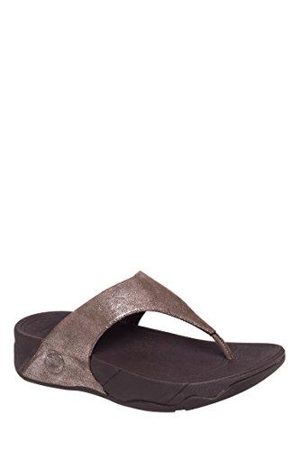 Lulu Shimmersuede Thong Flip Flop Sandal