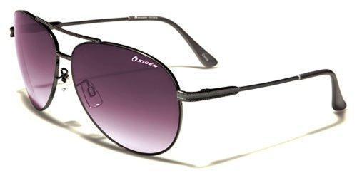 Occhiali da Sole Oxygen Aviator - Moda - Stile - Fashion - Glamour - Moto - Retro / Mod. Miami Argent Grigi Viola