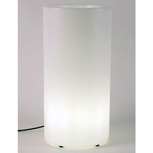 Pot de fleurs Lumineux Palma Light 7 L Blanc Ø 35 x H 70 cm