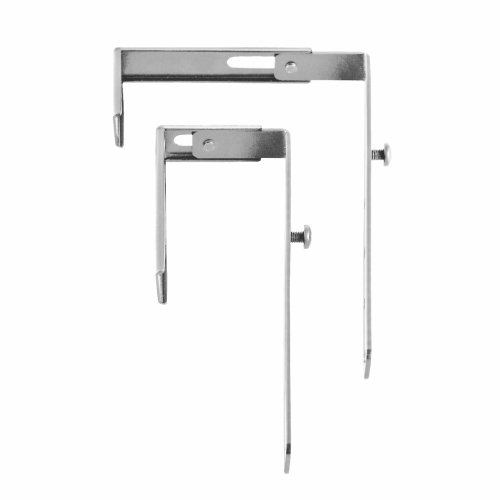 STEELMASTER Slot System Partition Hangers, for Use on 1.38 to 3.63-Inch Partitions, Set of 2, Silver (264P10150)