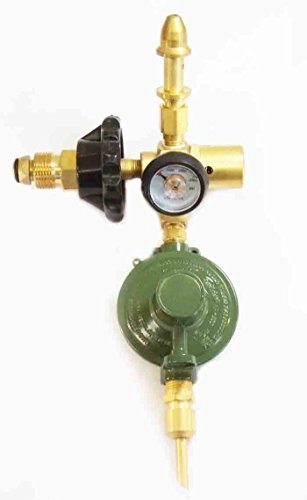LATEX & MYLAR E2802HTG-DV6040 Helium Gas Balloon Inflator Regulator NEW - Auto Shut Off Valve, Cylinder Content Gauge, Hand Tight Connection (Helium Gas Cylinder compare prices)