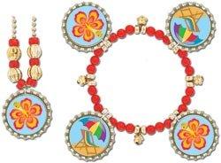 Kapstyle Jewelry Kit Makes 2/Pkg-Beach Hibiscus