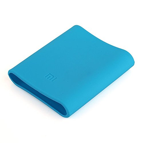 Heartly Soft Silicone Protector Universal Case Cover for Xiaomi Mi 104000 mAh - Power Blue (Power Bank Not Included)