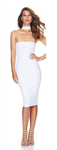 ALAIX-Womens-Off-Shoulder-Sleeveless-Sexy-Mini-Bandage-Party-Evening-Dress