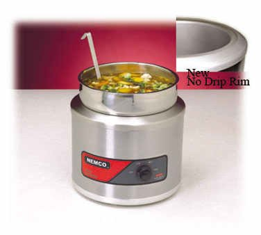 Nemco 6103A-Icl-220 Round Cooker/Warmer With Inset, 11-Quart