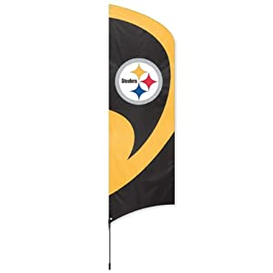 Party Animal Pittsburgh Steelers Tall Team Flag by Party Animal