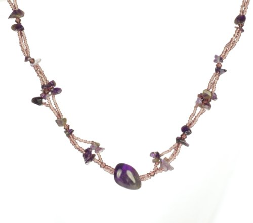 Mountain Lilac Stone and Bead Necklace