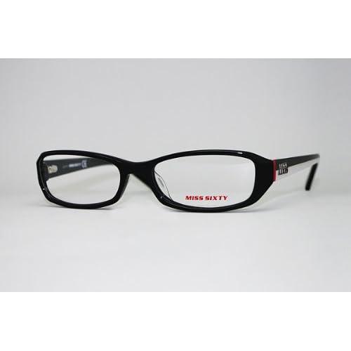 (ミスシックスティ) Miss Sixty ブラック×ホワイト×レッド メガネフレーム 眼鏡 めがね MX-453-001 [並行輸入品]