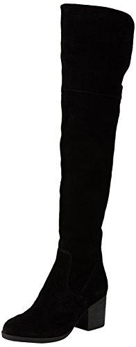 Steve MaddenOctagon - Stivali sopra il ginocchio foderati a freddo donna , Nero (Nero (Black Suede)), 36