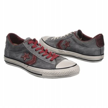 Converse Star Player John Varvatos Charcoal Grey With Red Laces