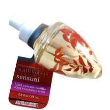 Bath & Body Works Aromatherapy Black Currant Vanilla Wallflower Refill Bulb Lot - 8 Bulbs black currant extract 100g lot