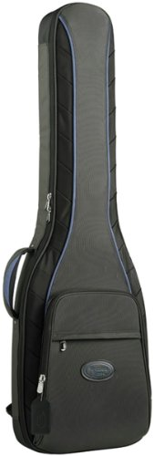 Reunion Blues Continental Electric Bass Guitar Case with Ballistic Quadraweave Black Exterior Quilted
