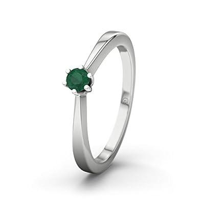 21DIAMONDS Madagascar Women's Ring Emerald Cut Engagement Ring-Silver Engagement Ring