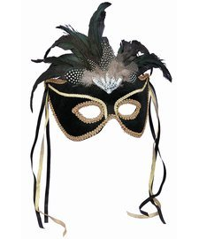 Forum Novelties Black Venetian Karneval Mask - 1