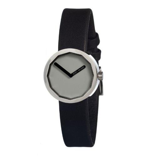 Issey Miyake SILAP018 - Reloj para mujeres, correa de cuero color negro