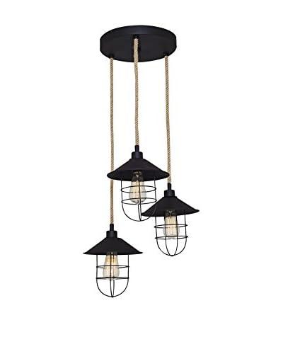 Light&Design Lámpara De Suspensión Metal Negro