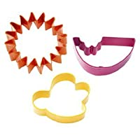 Wilton Summer Picnic 3 Piece Cookie Cutter Set - Bee Sun Melon