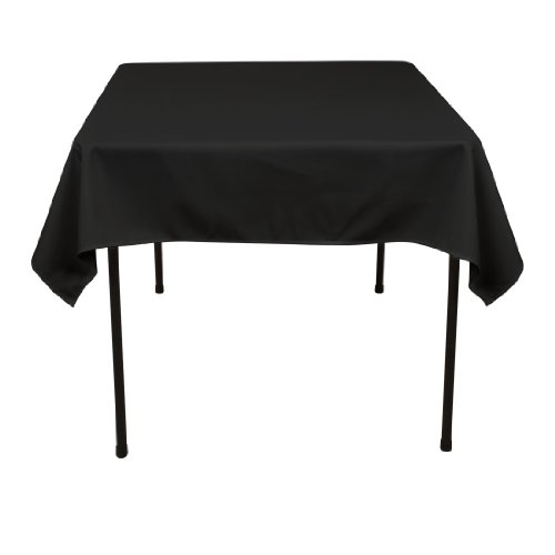 54 Inch Square Polyester Tablecloth Black