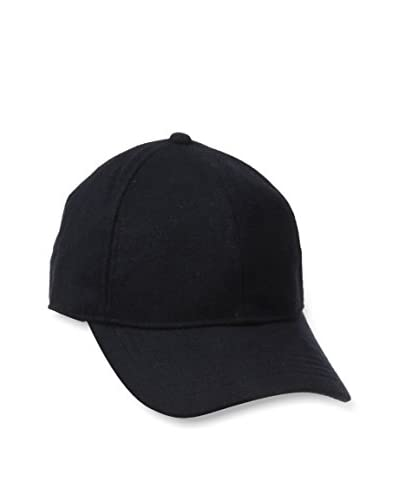 Block Headwear Men's Wool Baseball Cap, Navy