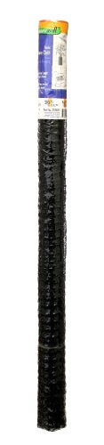 1/2 Inch Mesh 36 Inch Tall x 25 Feet Long Plastic Hardware Cloth Black