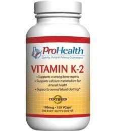 Pro Health, Vitamin K-2 100 mcg, 100 VCaps