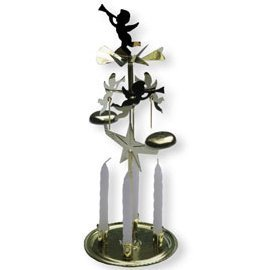 Royal Brass Angel Chimes with Box of 20 Candles