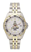 Appalachian State Mountaineers Mens All Star Sterling Silver Bracelet Watch