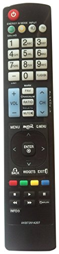 Nettech New General Replaced LG AKB72914207 AKB72914003 AKB72914240 LCD LED HD TV Remote Control Same Function As Original (Lg Control Remote compare prices)