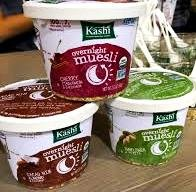 Kashi, Overnight Muesli VARIETY 6 Pack + FREE 48 count pack of Plastic Spoons: 2 Bowls of CACAO NIB ALMOND & COCONUT, 2 CHERRY CINNAMON & CARDAMOM, 2 SUNFLOWER PEPITA. 2.12 oz. Bowls