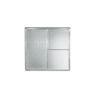 Sterling 5906-59S Deluxe By-Pass Bath Door, Silver with Rain Texture Glass (Kohler Tub Shower Doors compare prices)