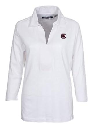 NCAA South Carolina Fightin Gamecocks Ladies OA Y Neckline 3 4 Sleeve Polo Shirt,... by Oxford