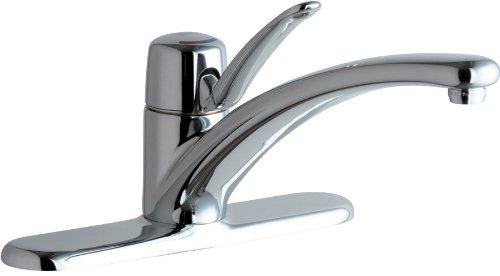 Chicago Faucets 2300-8CP Marathon Deck Mounted Single Control Kitchen Sink Faucet, Chrome