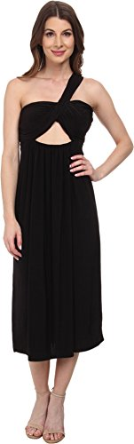 Tbags Los Angeles Womens One Shoulder Strap Front Cutout Bandeau Dress