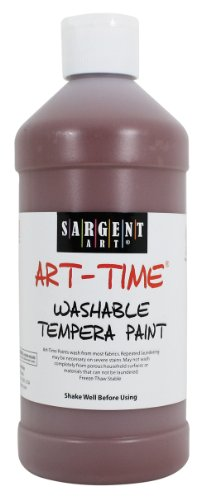 Sargent Art 22-3488 16-Ounce Art Time Washable Tempera, Brown - 1
